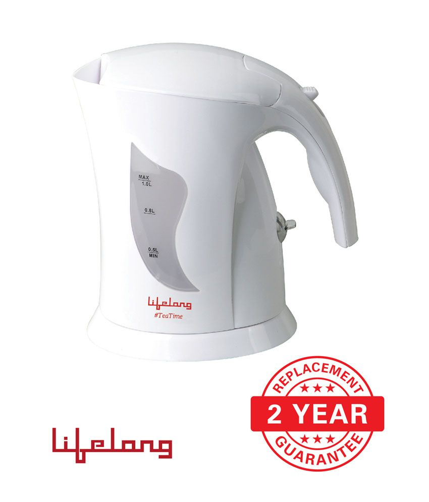 Lifelong TeaTime1 - 1 L Hairpain Electric Kettle - (White)