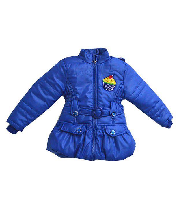 London Girl Blue Padded Jacket For Girls