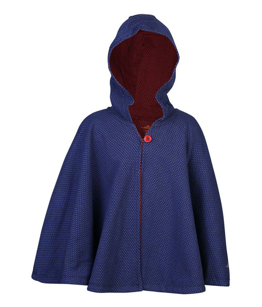ELLO Blue Full Sleeves With Hood Reversible Jacket