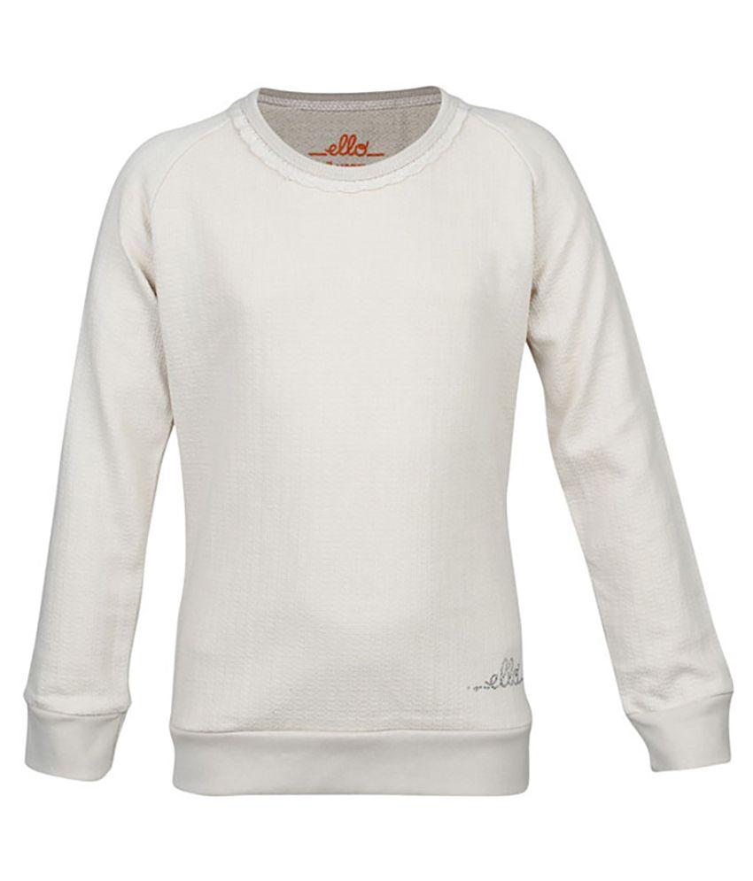ELLO GhostWhite Without Hood Sweatshirt