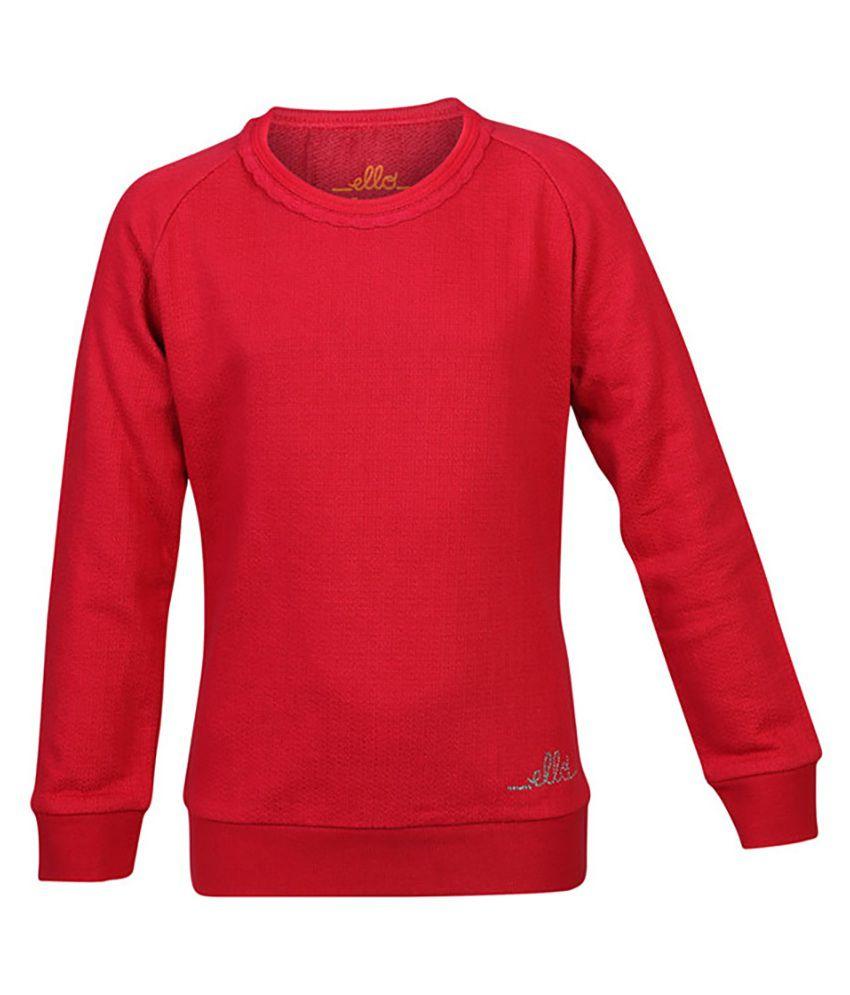 ELLO Red Without Hood Sweatshirt