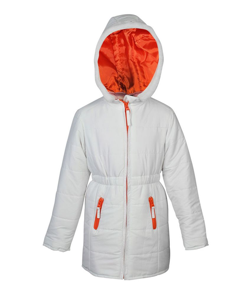 ELLO White Full Sleeves With Hood Jacket