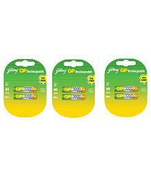 Godrej GP AAA 1000 Ni-MH Rechargeable Battery - Pack of 3
