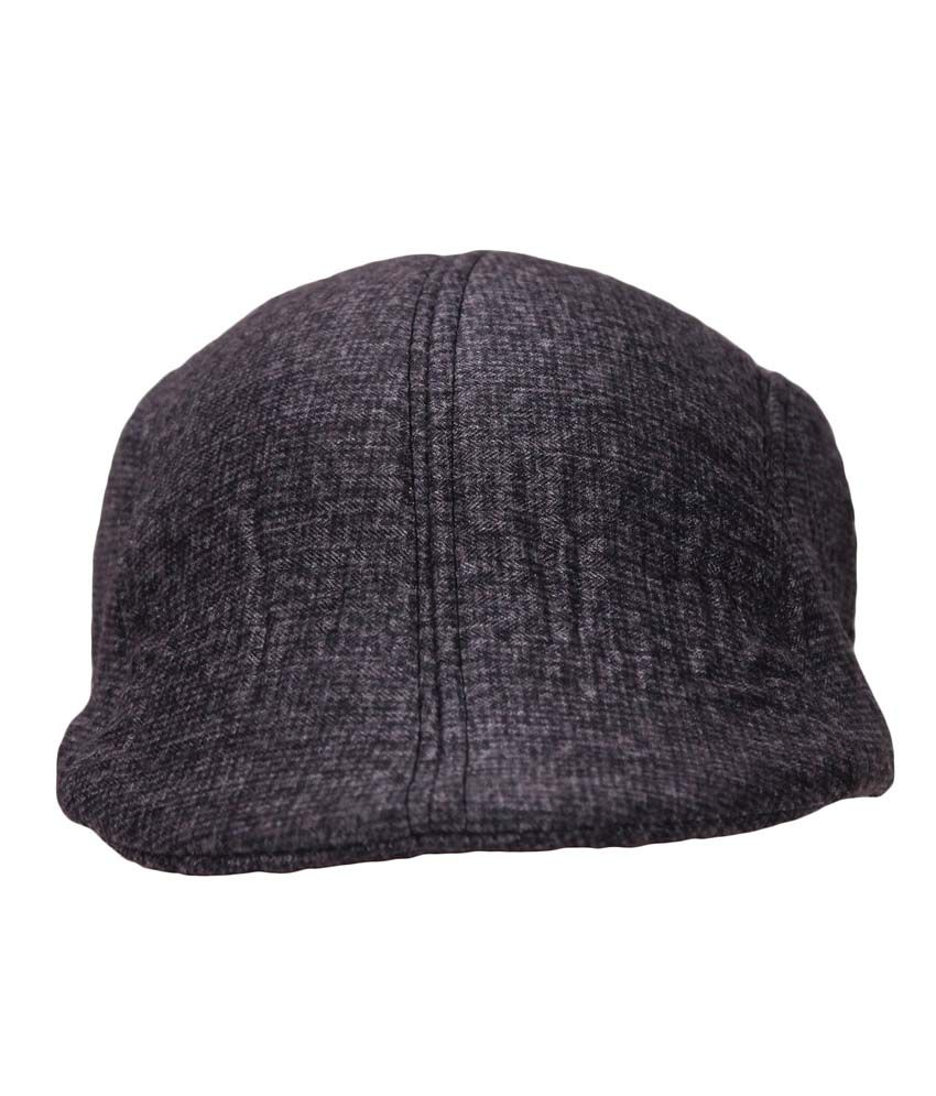 Air Fashion Gray Cotton Golf Cap For Men