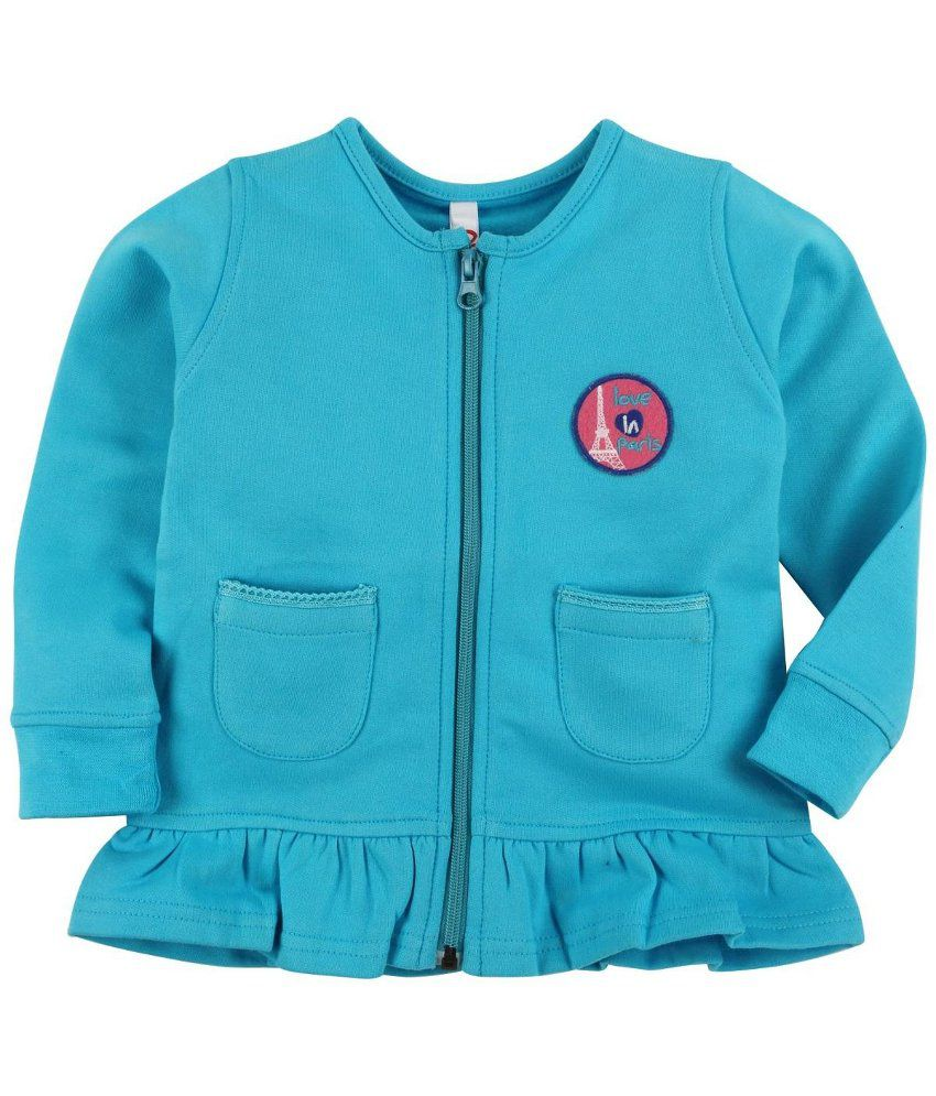 Oye Blue Fleece Zipper Sweatshirt