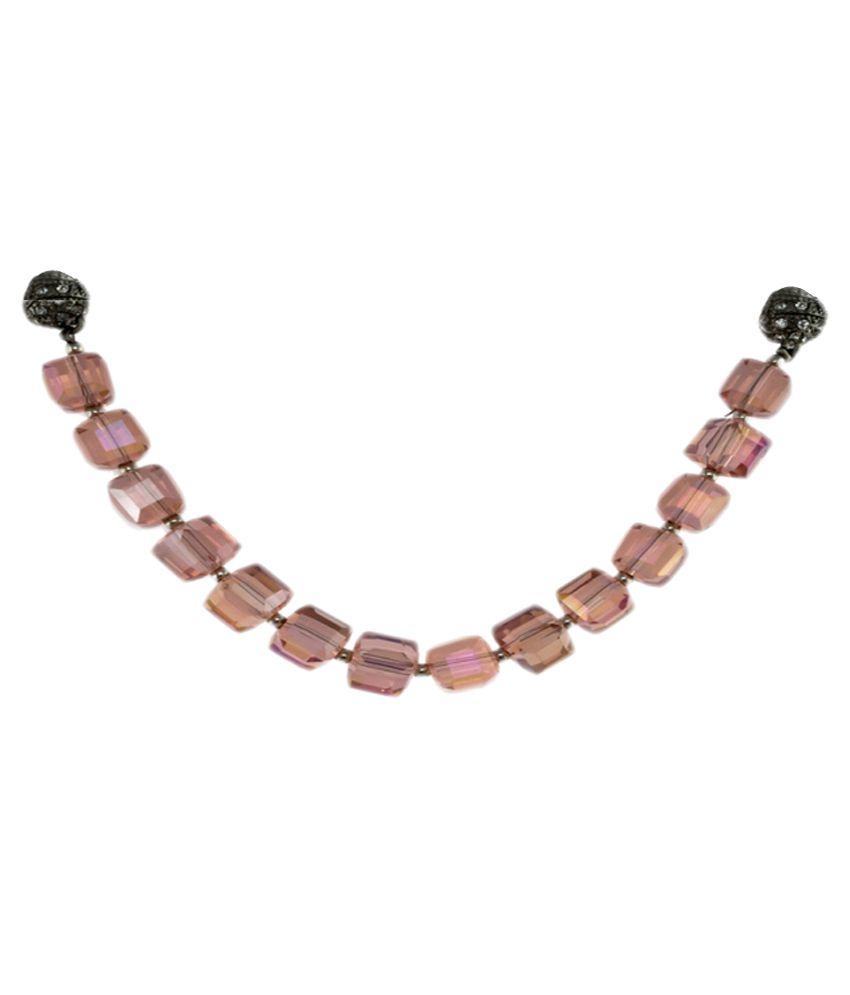 krafftwork Pink Alloy Necklace