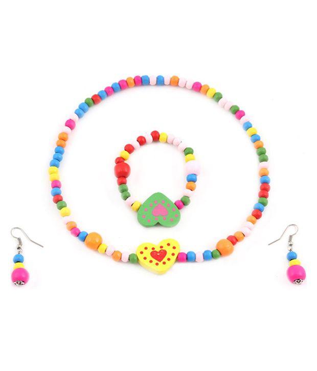 Hawai Multicolour Style Diva Designer Necklace Set