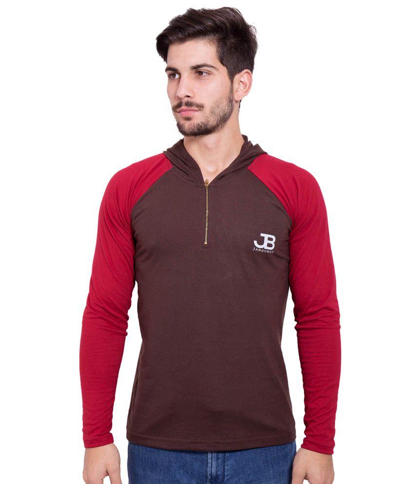 Jangoboy Brown Cotton T-Shirt