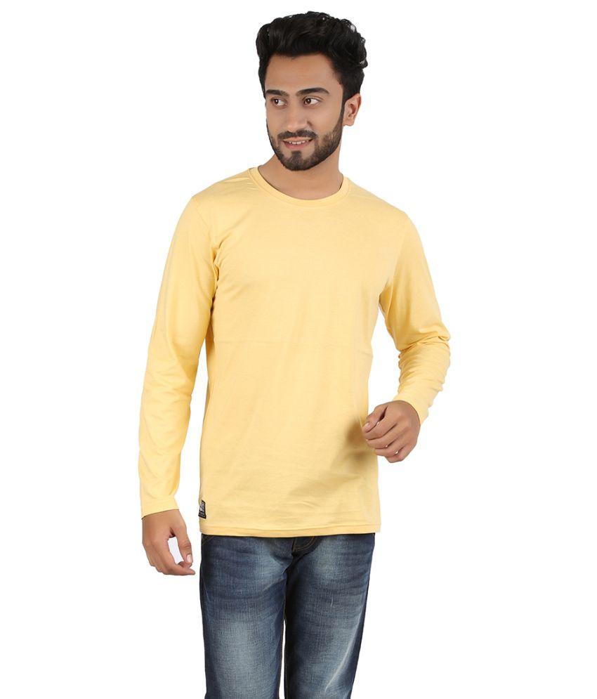 Ocean Race Yellow Cotton T-shirt