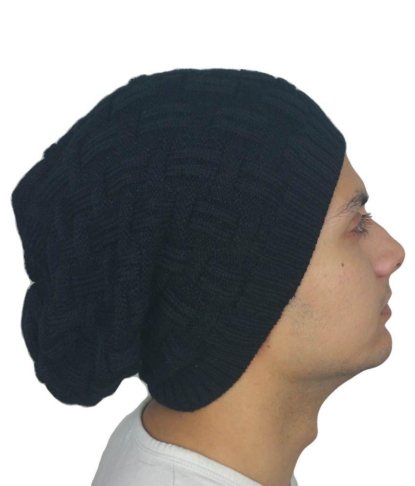 iSweven Black Beanies Cap For Men