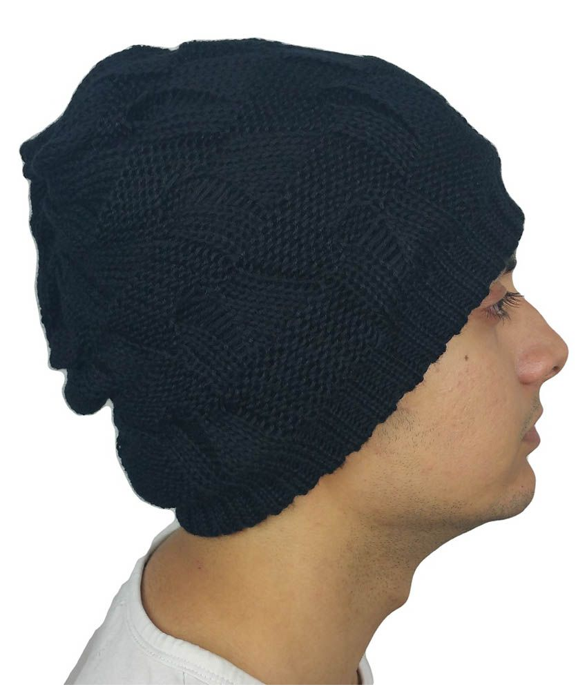 ed04d6554 iSweven Black Beanies Cap For Men - Buy Online @ Rs. | Snapdeal