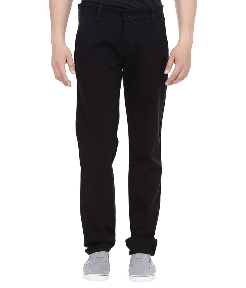 HD9 Black Regular Fit Trousers