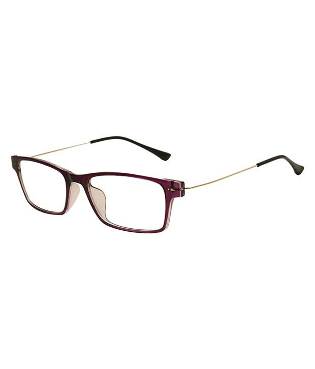 Line Optical Questions : Rose line purple rectangle eyeglasses buy