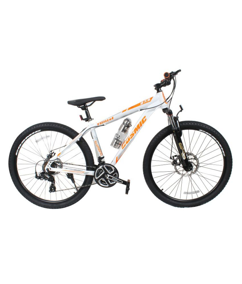 8d46ba05a5c COSMIC TRIUM 27.5 INCH MTB BICYCLE 21 SPEED WHITE/ORANGE-PREMIUM EDITION:  Buy Online at Best Price on Snapdeal