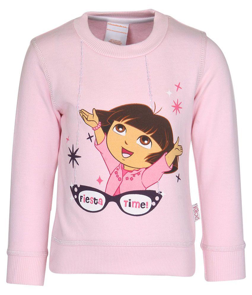 Dora Pink Crew Neck Sweatshirt
