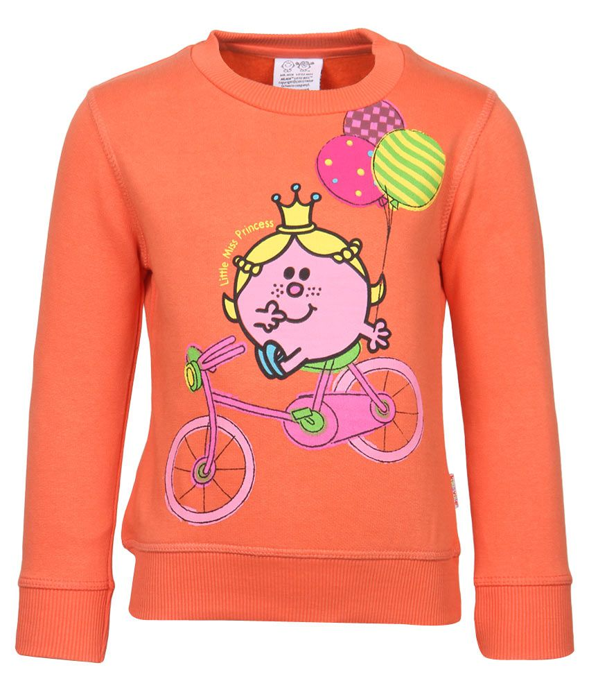 MMLM Orange Crew Neck Sweatshirt