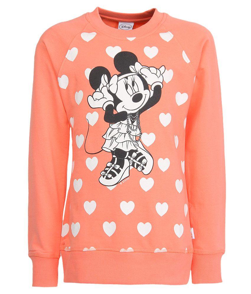 Mickey & Friends Orange Crew Neck Sweatshirt