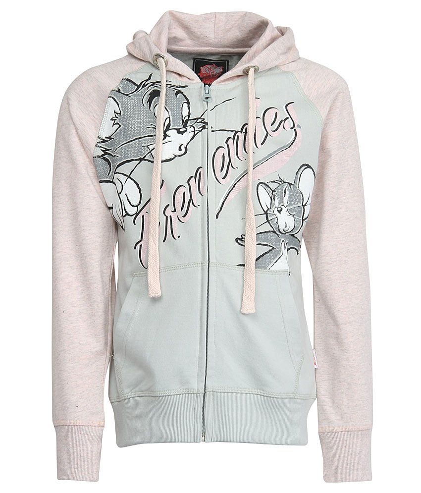 Tom & Jerry Pink With Hood Sweatshirt