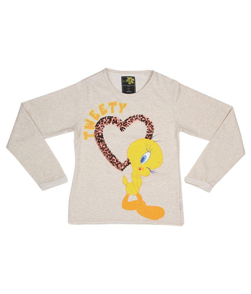 Tweety Gray Crew Neck Sweatshirt