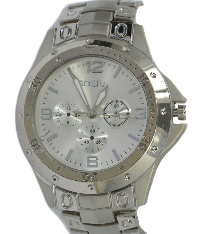 Af rosra white round party wear watch buy af rosra white round party wear watch online at best for Rosra watches