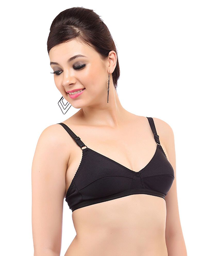 b87371efe Buy Mybra Black Cotton Bra Online at Best Prices in India - Snapdeal