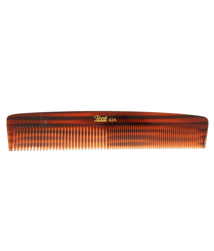 Roots Brown Dressing Comb for Long/Straight Hair (Pack of 7)