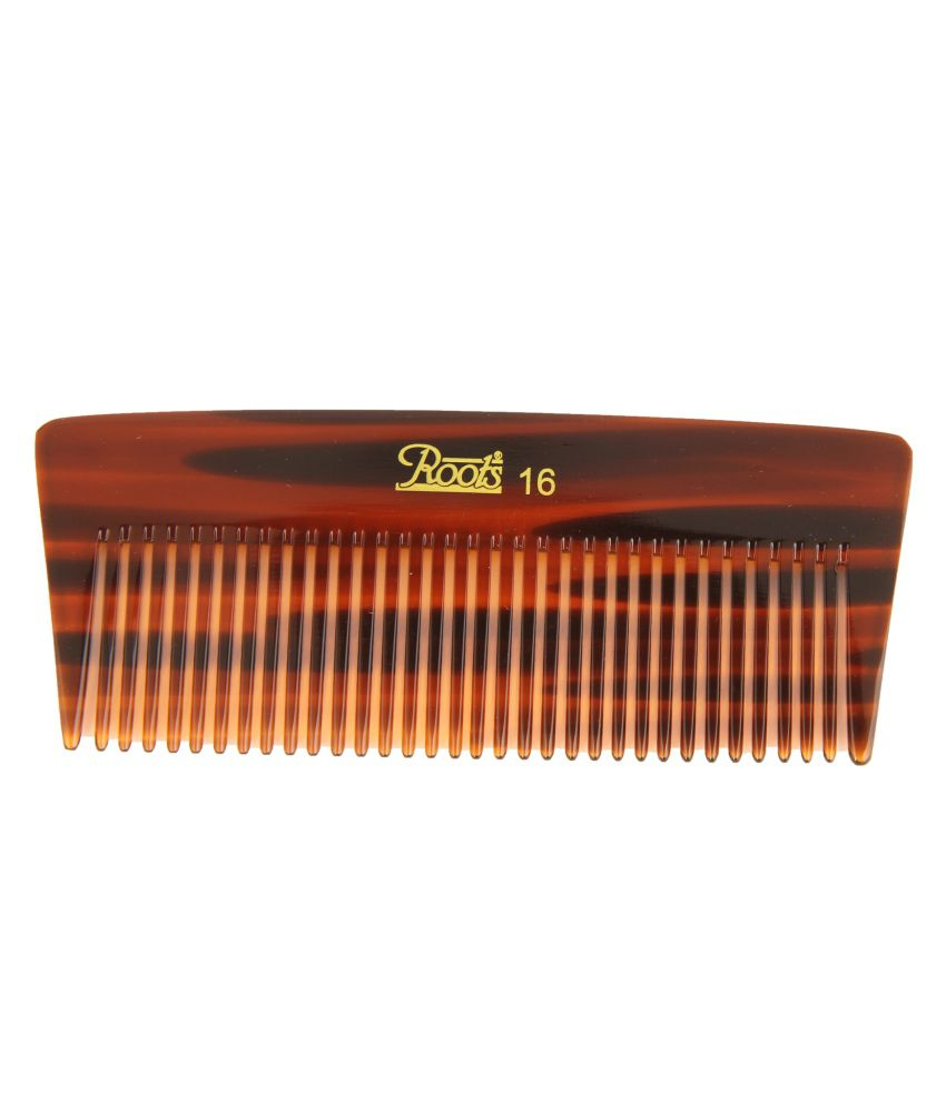 Roots Brown Wide Teeth Comb for Thick Short Straight Hair (Pack of 7)