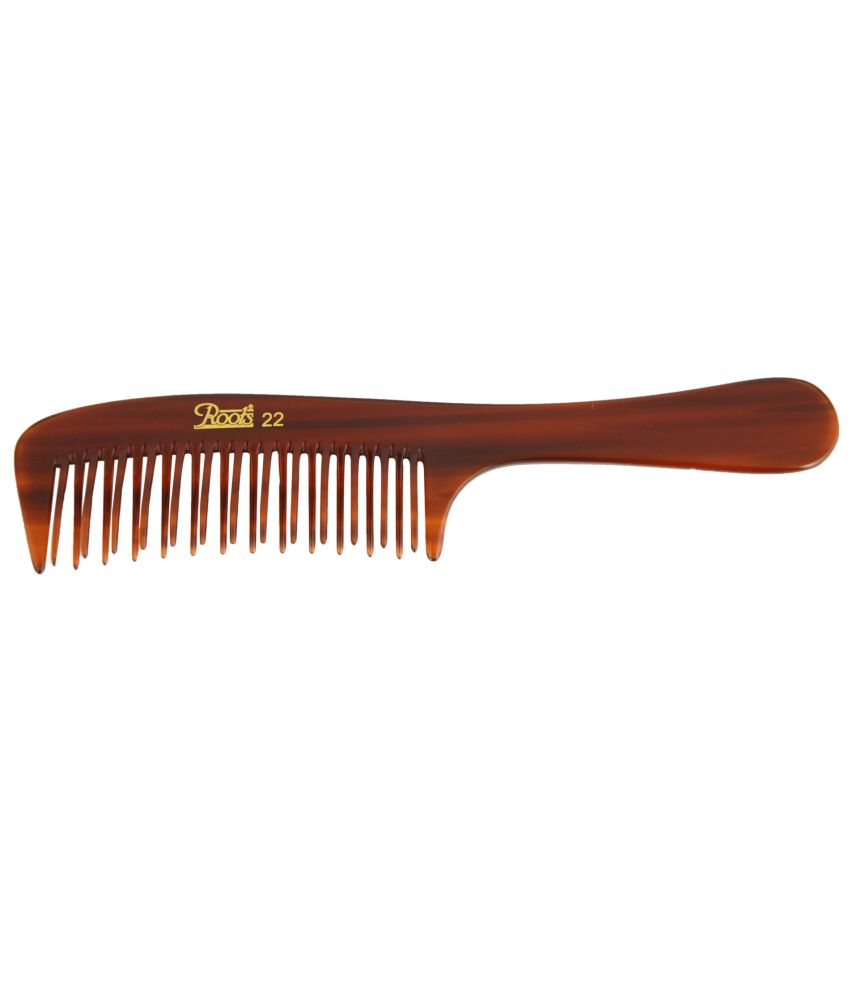 Roots Brown Wide Teeth Styling Comb for Volume (Pack of 5)