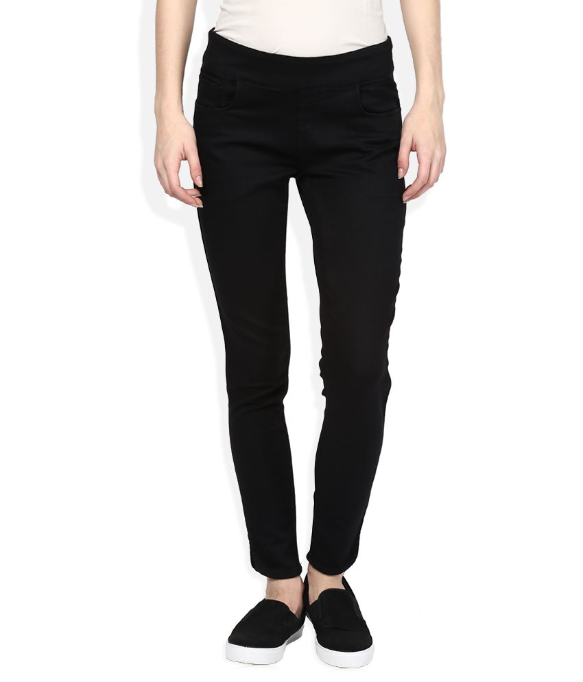 07c7d0644243d Buy Vibe Black Slim Fit Jeggings Online at Best Prices in India - Snapdeal