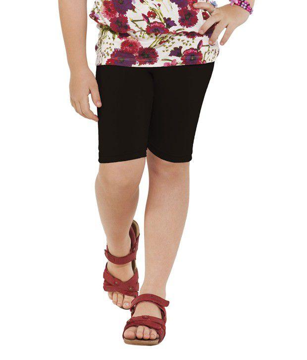 Go Colors Black Shorts For Girls