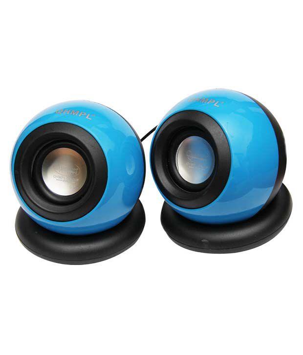 Quantum Qhm620 2.0 Mini Desktop Speakers - Blue