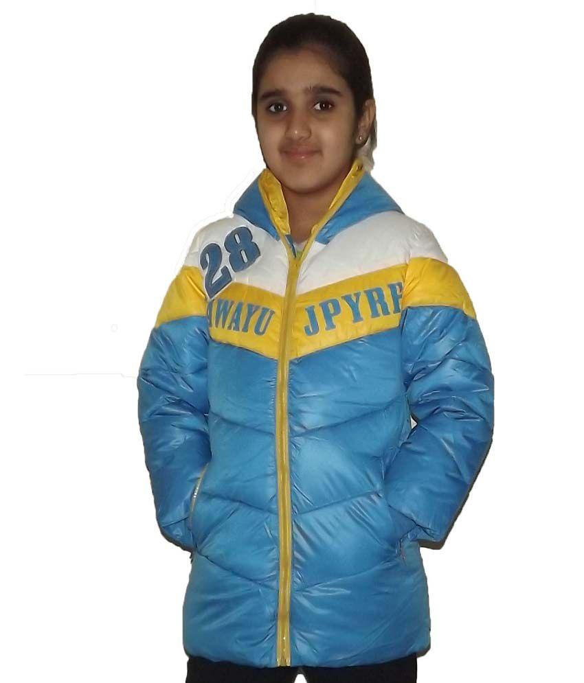 Aditya Blue Padded Jacket For Girls