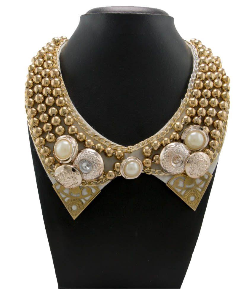 Krafftwork Golden Alloy Necklace