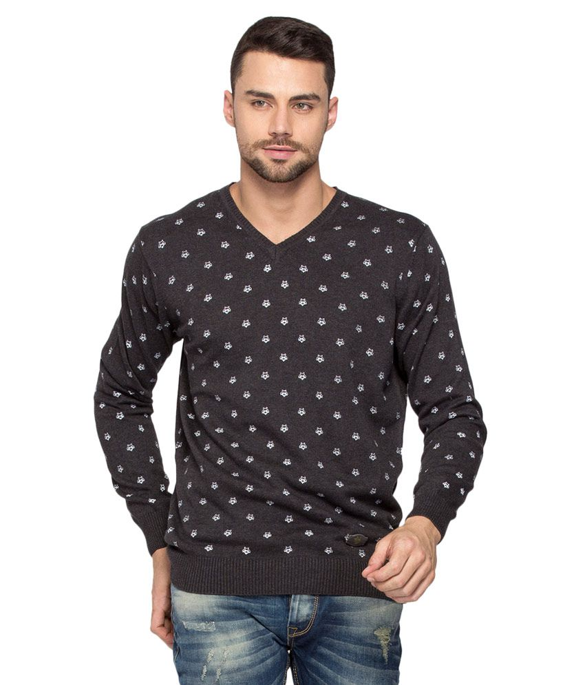 Upto 50 - 80% Off Men'sClothing By Snapdeal   Spykar Black Full Sleeve T-Shirt @ Rs.819