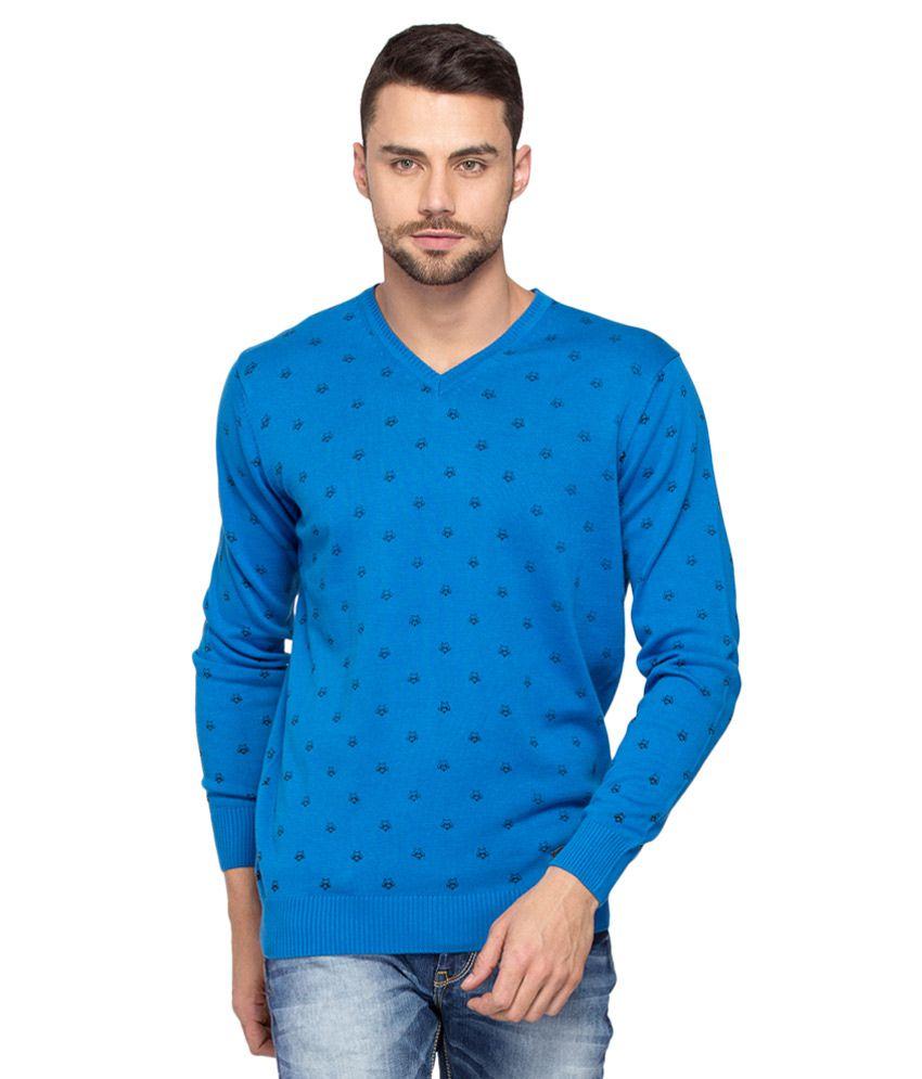 Spykar Blue Full Sleeve T-Shirt