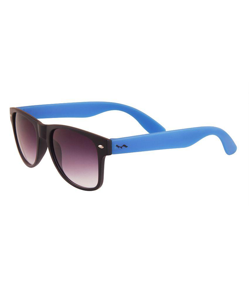Fastfox Black Wayfarer Unisex Sunglasses