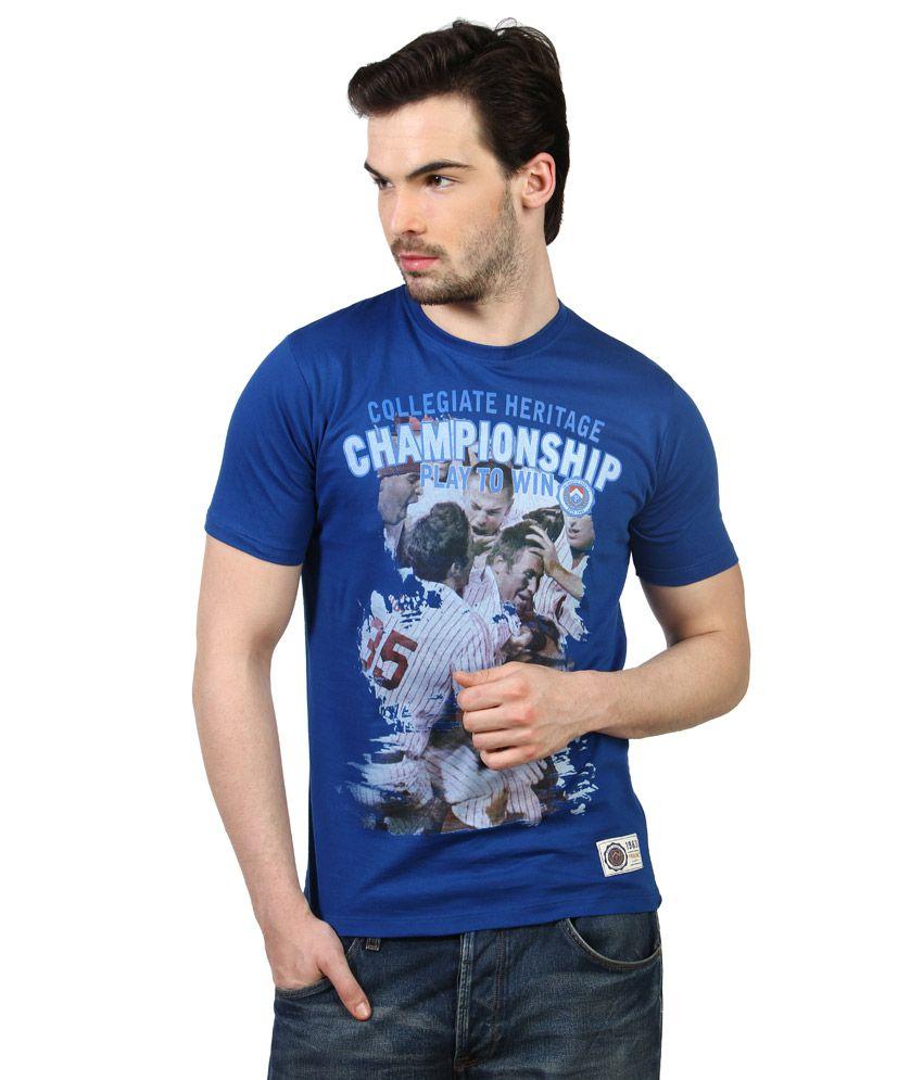 Proline Blue Round Neck T Shirt
