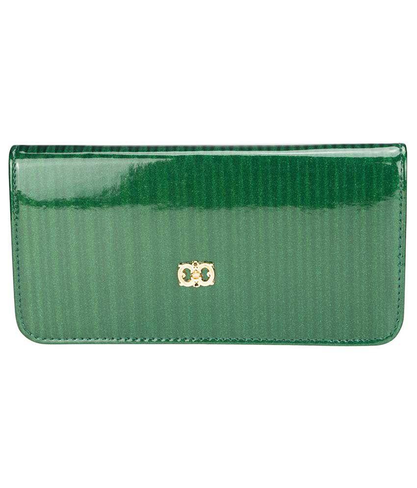 Genious Green Women Long Wallet