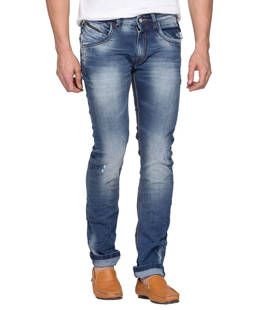 Spykar Blue Regular Fit Jeans