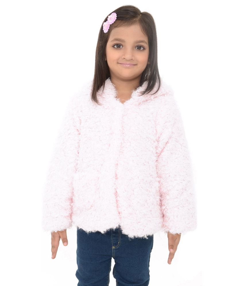 Joy N Fun Pink Synthetic Padded Jacket With Hood