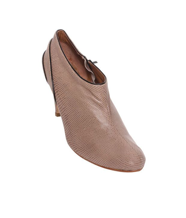 Massimo Italiano Light Brown Heel Boots