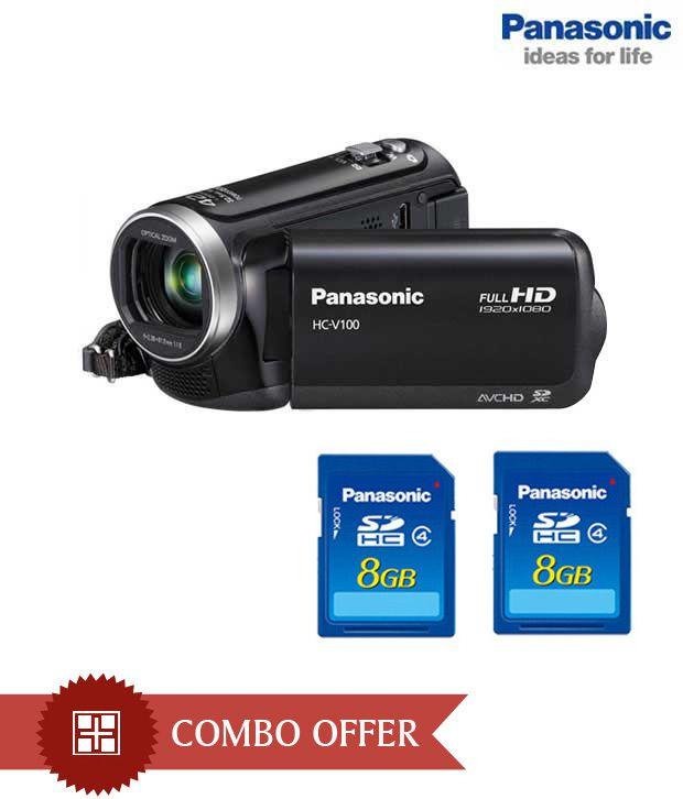 Panasonic HC V100 Camcorder (Black)