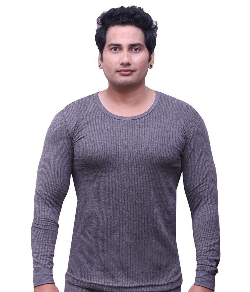 Selfcare Grey Thermal T Shirt