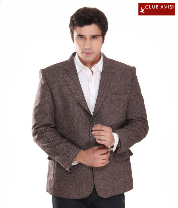 Club Avis USA Elegant Brown Men Jacket