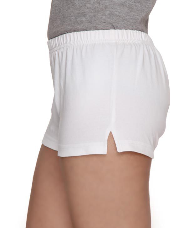 Buy Finesse Comfy White Hot Pants Online at Best Prices in India ...