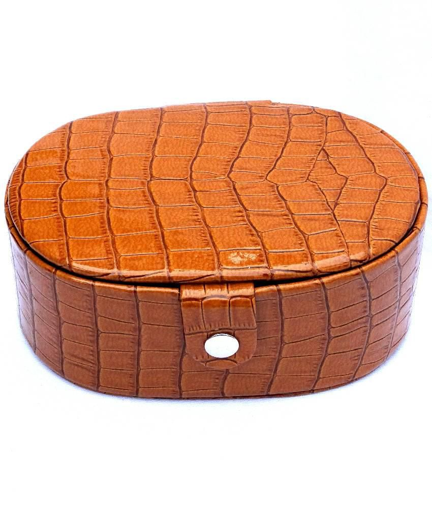 Leather Kraft  Brown Jewellery Box