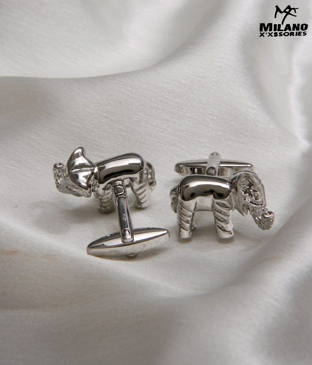 Milano X'xssories Magnificent Elephant Style Cufflinks