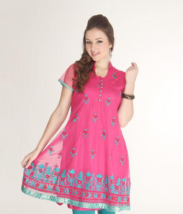 Paislei Trendy Fuschia Pink Suit Set