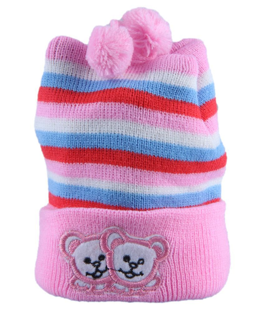 Winter Pink Woolen Baby Caps 0-3 Months  Buy Online at Low Price in India -  Snapdeal b0549db39