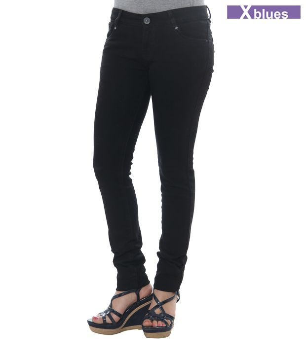X-Blues Black Denims 045-BLACK